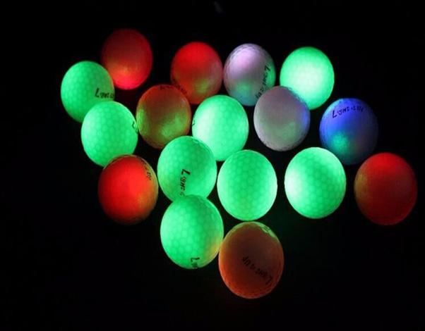 Glow in the dark golfballen