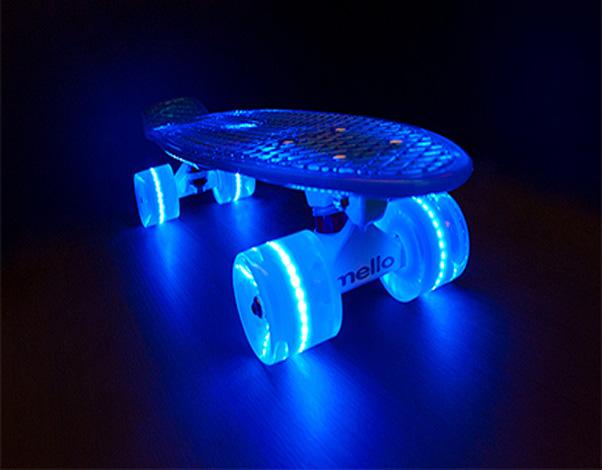 Skateboardwielen met led verlichting per 4