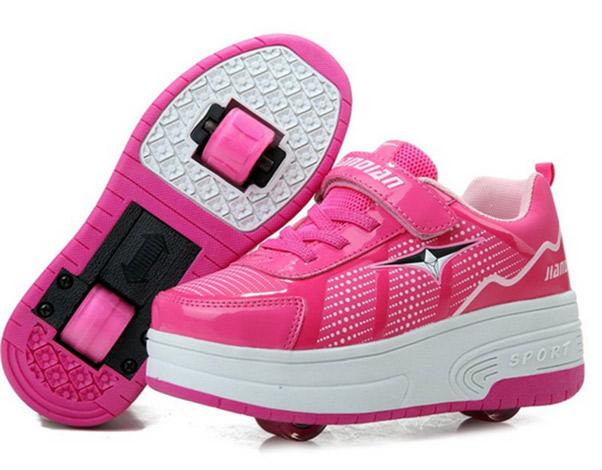 heely rolschaatsen roze